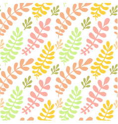autumn leaves seamless pattern bright texture can vector image