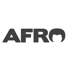 Afro Typography Logo vector image