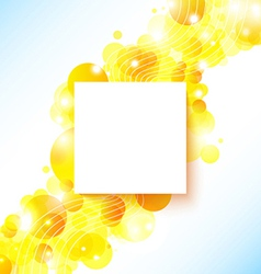Bright and sunny poster with a place for Your text vector image vector image