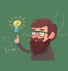 cartoon character professor vector image