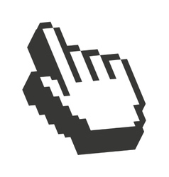 Computer mouse hand pointer isolated icon design vector image