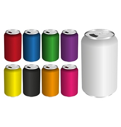 Drink Cans vector image vector image