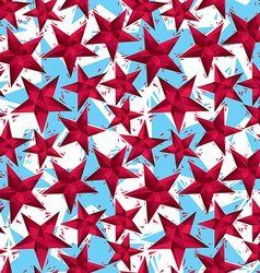 Red stars seamless pattern geometric contemporary vector image vector image