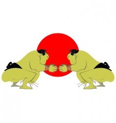 sumo vector image