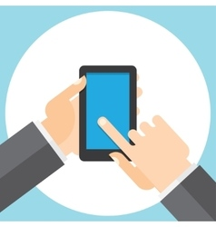 touchscreen smartphone in your hand vector image
