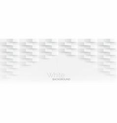 3d futuristic white paper corners mosaic white vector image