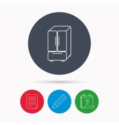 American fridge icon Refrigerator sign vector