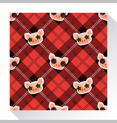 Animal seamless pattern collection with piggy 6 vector