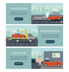 automobile services isolated on city background vector image