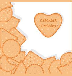 Bakery background crackers cookies vector