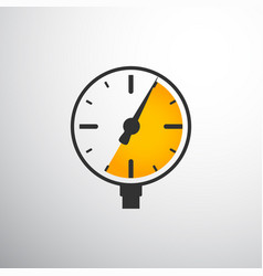 Barometer pressure gauge vector