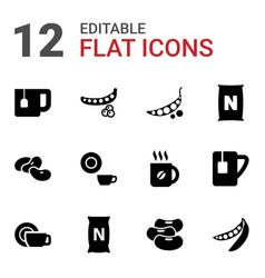 Bean icons vector