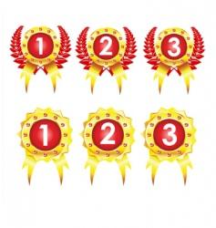 best golden badges vector image