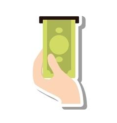 Bills dispensing machine icon vector
