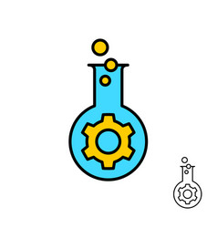 bio engineering and technology logo with vector image