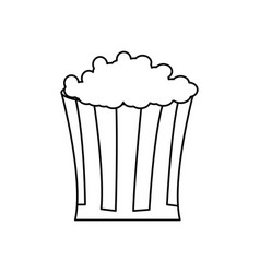 bucket pop corn food celebration party line vector image