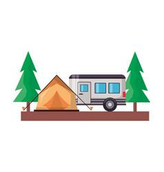 camping wanderlust design vector image
