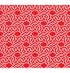 Chain mail of the links in form of red hearts vector