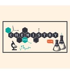 Chemistry background chemistry inscription vector image