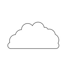 cloud fluffy monochrome in white background vector image