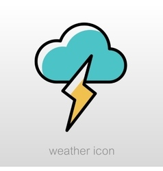 Cloud Lightning icon Meteorology Weather vector image