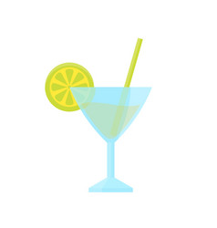 cocktail with lime vector image