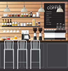 Coffee shop design loft vector