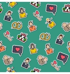 Colored family pattern vector