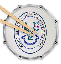 Connecticut snare drum vector