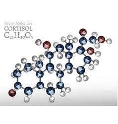 Cortisol molecule image vector