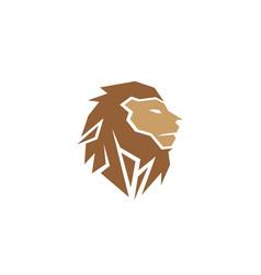 creative abstract brown lion head logo vector image