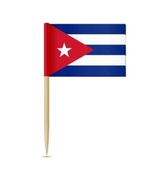 Cuba flag toothpick vector