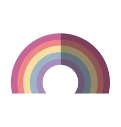 Cute rainbown fantasy icon vector
