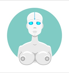 Cyber robot girl vector image