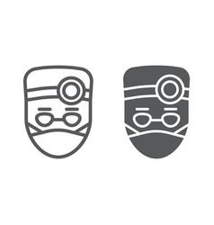 doctor line and glyph icon stomatology dentist vector image