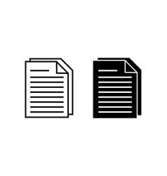 document icon note symbol in flat style vector image