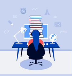 e-learning online education design concept vector image
