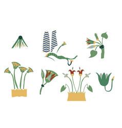 Egypt cane branches set vector
