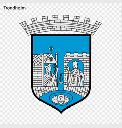 Emblem of city of norway vector