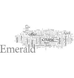 Emerald princess the newest grand class ship sets vector