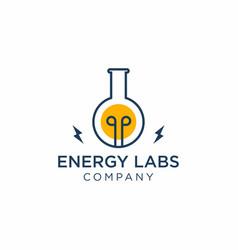 Energy labs logo design vector