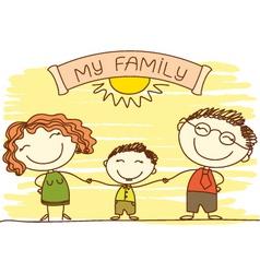 Family cartoon vector