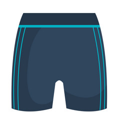female gym shorts icon vector image