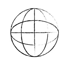figure global symbol to data center connection vector image