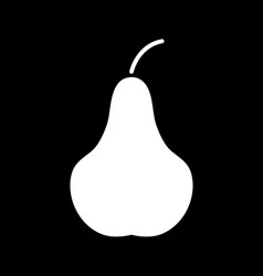 Flat line pear icon vector