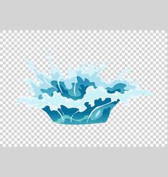 frame water splash for game animation vector image