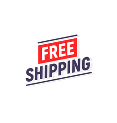 Free shipping delivery banner design truck vector