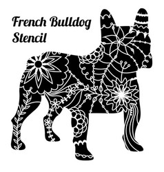 French bulldog stencil vector