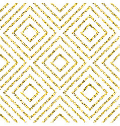 gold pattern with squares vector image