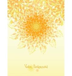 Golden nature circle design element background vector